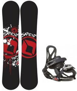 Sapient Rival Snowboard w/ Sapient Prodigy Bindings Black
