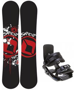 Sapient Rival Snowboard w/ Salomon Team Bindings Black
