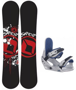 Sapient Rival Snowboard w/ Burton Freestyle Jr Bindings Lt Grey