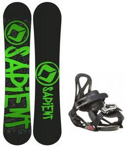 Sapient Yeti Snowboard w/ Sapient Prodigy Bindings Black
