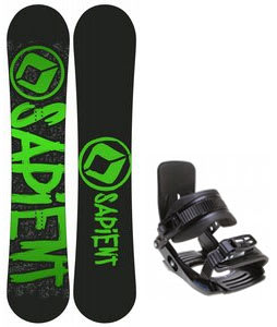 Sapient Yeti Snowboard w/ Salomon Team Bindings Black