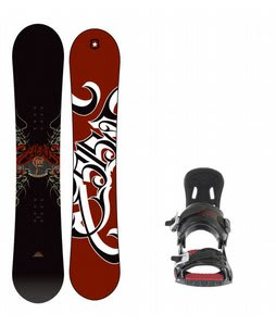 5150 Vice Snowboard w/ 5150 Exo Bindings Black