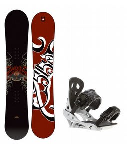 5150 Vice Snowboard w/ Arctic Edge Team Bindings Silver