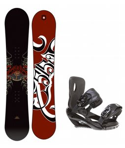 5150 Vice Snowboard w/ Sapient Wisdom Bindings Black