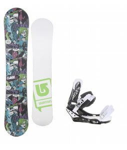 Burton Clash Comic LTD w/ Burton Triad Bindings Black