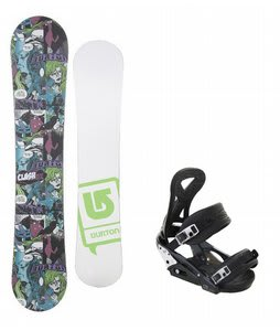 Burton Clash Comic LTD w/ Burton P1.1 Bindings Black
