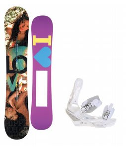 Burton Love Snowboard w/ Burton Triad Bindings White