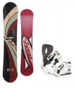 Lamar Blazer Snowboard w/ Sapient Stash Bindings White