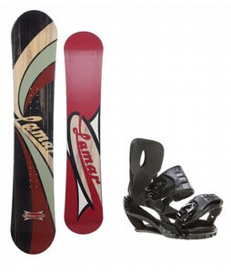 Lamar Blazer Snowboard w/ Sapient Stash Bindings Black/Charcoal