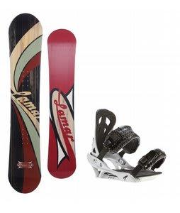 Lamar Blazer Snowboard w/ Arctic Edge Team Bindings Silver