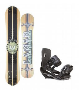 Lamar Blazer Snowboard w/ Sapient Wisdom Bindings Black