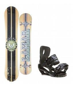 Lamar Blazer Snowboard w/ Sapient Stash Bindings Black/Charcoal