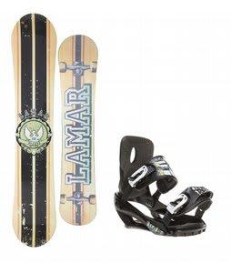 Lamar Blazer Snowboard w/ Sapient Stash Bindings Black