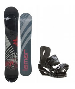 Lamar Mission Snowboard w/ Sapient Stash Bindings Black/Charcoal