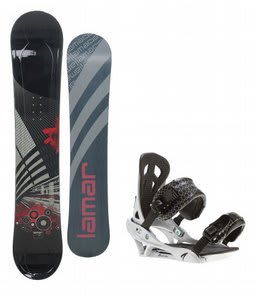 Lamar Mission Snowboard w/ Arctic Edge Team Bindings Silver