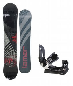 Lamar Mission Snowboard w/ Lamar MX30 Bindings Black