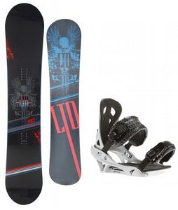 LTD Quest Snowboard w/ Arctic Edge Team Bindings Silver