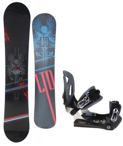 LTD Quest Snowboard w/ Lamar MX30 Bindings Black