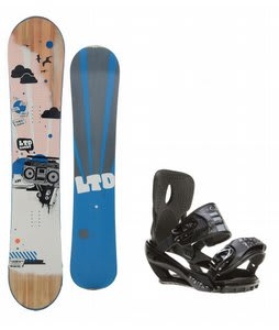 LTD Quest Snowboard w/ Sapient Stash Bindings Black/Charcoal