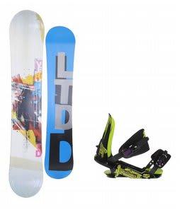 LTD Venom Snowboard w/ Rossignol Viper V1 Bindings Black/Lime