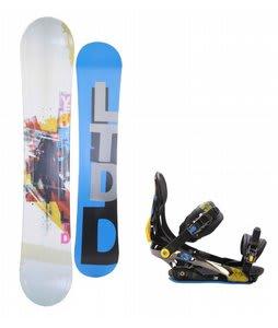 LTD Venom Snowboard w/ Rome S90 Bindings Blue/Yellow