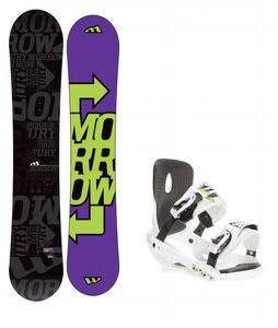 Morrow Fury Snowboard w/ Sapient Stash Bindings White