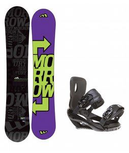 Morrow Fury Snowboard w/ Sapient Wisdom Bindings Black