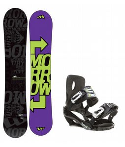 Morrow Fury Snowboard w/ Sapient Stash Bindings Black