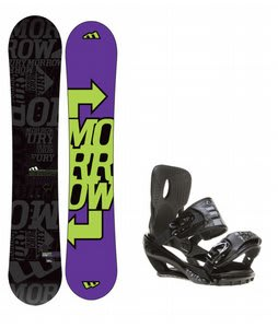 Morrow Fury Snowboard w/ Sapient Stash Bindings Black/Charcoal