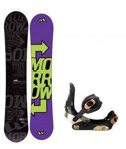Morrow Fury Snowboard w/ Morrow Invasion Bindings Black
