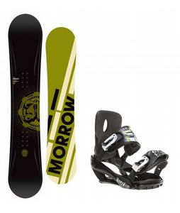 Morrow Radium Snowboard w/ Sapient Stash Bindings Black