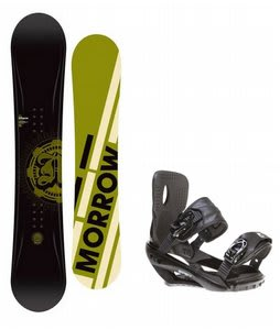 Morrow Radium Snowboard w/ Sapient Wisdom Bindings Black