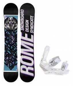 Rome Postermania Snowboard w/ Burton Triad Bindings White
