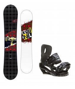 Rossignol Contrast Snowboard w/ Sapient Stash Bindings Black/Charcoal