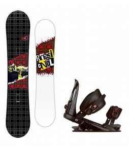 Rossignol Contrast Snowboard w/ Rossignol Cobra V1 Bindings Black