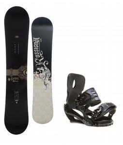 Rossignol Sultan Snowboard w/ Sapient Stash Bindings Black/Charcoal