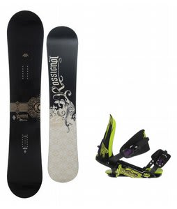 Rossignol Sultan Snowboard w/ Rossignol Viper V1 Bindings Black/Lime