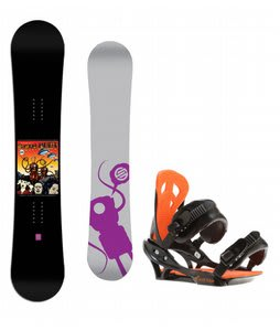 Santa Cruz Seth Huot Snowboard w/ Arctic Edge Team Bindings Black