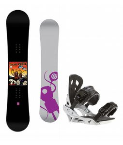 Santa Cruz Seth Huot Snowboard w/ Arctic Edge Team Bindings Silver
