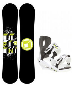 Sapient Stash Snowboard w/ Sapient Stash Bindings White