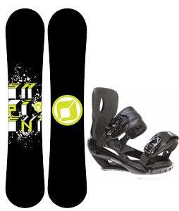 Sapient Stash Snowboard w/ Sapient Wisdom Bindings Black