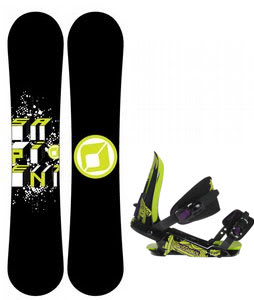 Sapient Stash Snowboard w/ Rossignol Viper V1 Bindings Black/Lime