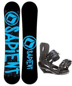 Sapient Yeti Snowboard w/ Sapient Wisdom Bindings Black