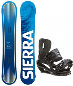 Sierra Bluebird Snowboard w/ Sapient Stash Bindings Black/Charcoal