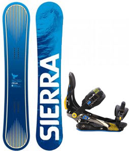 Sierra Bluebird Snowboard w/ Rome S90 Bindings Blue/Yellow