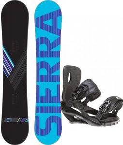 Sierra Reverse Crew Snowboard w/ Sapient Wisdom Bindings Black