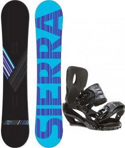 Sierra Reverse Crew Snowboard w/ Sapient Stash Bindings Black/Charcoal