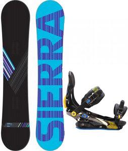 Sierra Reverse Crew Snowboard w/ Rome S90 Bindings Blue/Yellow
