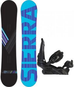 Sierra Reverse Crew Snowboard w/ Forum Republic Bindings Dark