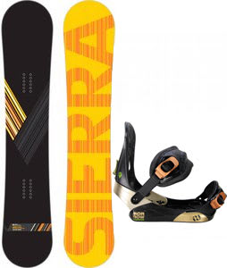 Sierra Reverse Crew Wide Snowboard w/ Morrow Invasion Bindings Black